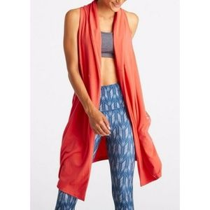 New Lucy Coral Calm Heart Wrap Vest